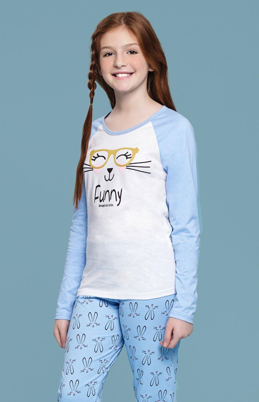 Pijama Infantil 100% Algodão Coelha Inverno 2018