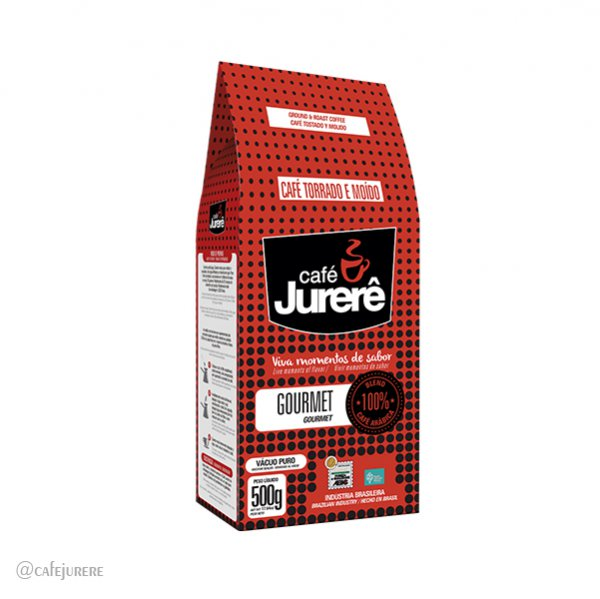 Café Jurerê Gourmet TM Vácuo 500g/ Gourmet Jurerê Roast and Ground Coffee - 500g Vacuum Packaging