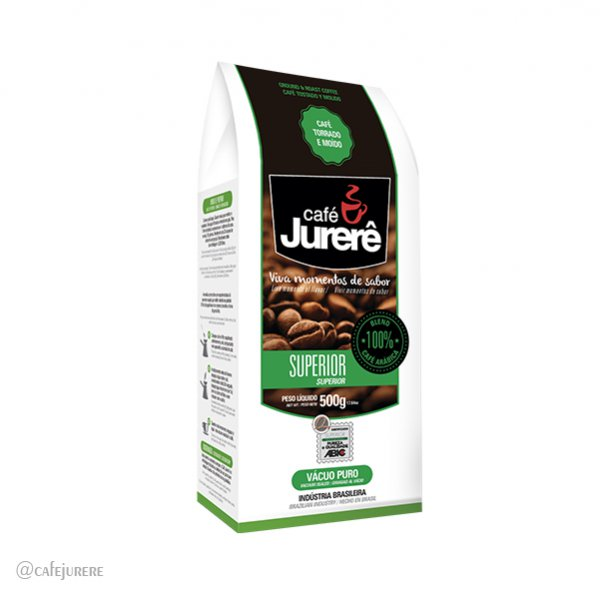 Café Jurerê Superior TM Vácuo 500g / Superior Jurerê Roasted and Ground Coffee, 500g Vacuum Packaging