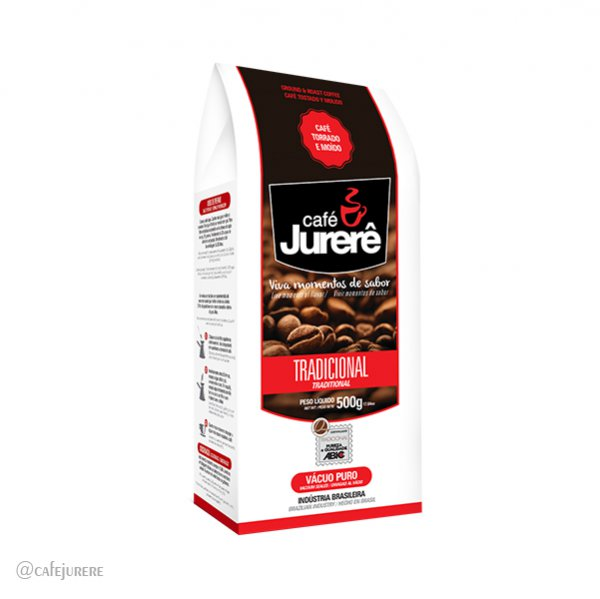 Café Jurerê Tradicional TM Vácuo 500g / Traditional Jurerê Roasted and Ground Coffee, 500g Vacuum Packaging