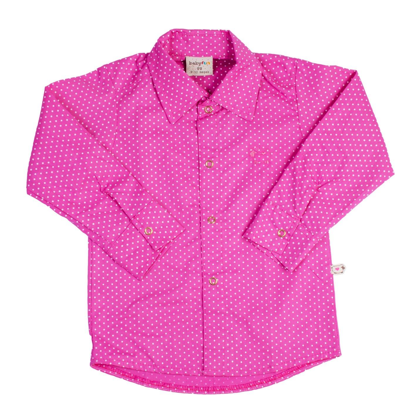 Camisa Poa Pink Milkfun