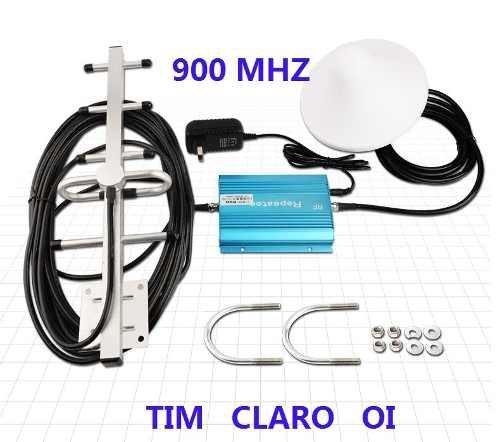 Repetidor Celular 900mhz Com Antena 13dbi Para Tim Claro Oi