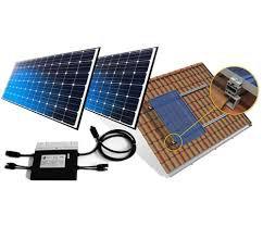 Gerador Solar Fotovoltaico 640kwh com microinversor completo