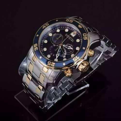 Relógio P00064 Invicta Iv37 Pro Diver 0077 Prata Dourado