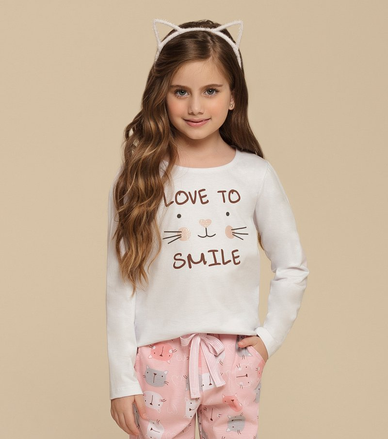 Pijama Manga Longa Infantil - 67339