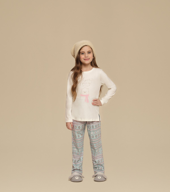 Pijama Manga Longa Infantil - 67341