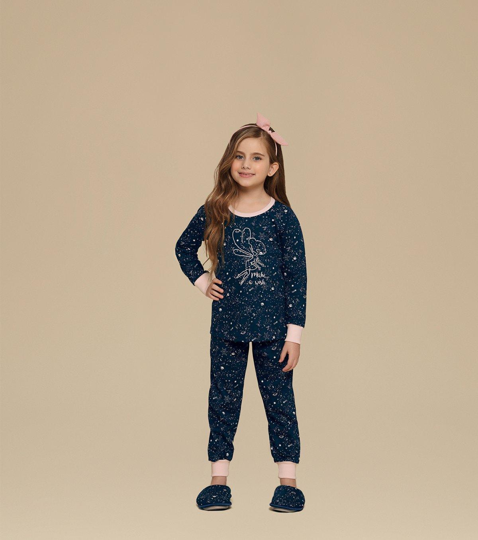 Pijama Manga Longa Infantil - 67328