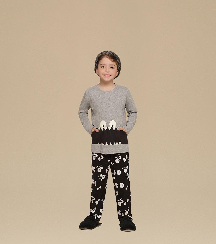 Pijama Manga Longa Infantil - 66293
